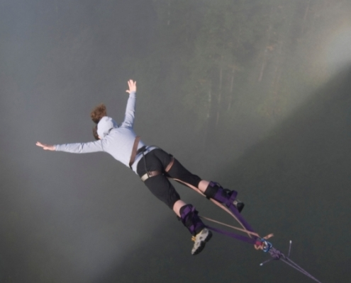 Salto pendular Urruti Sport baztan abentura park navarra 2